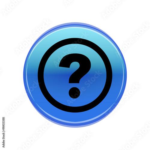 Fotografia  Синяя кнопка помощь