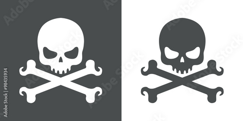Photo  Icono plano calavera y huesos #1