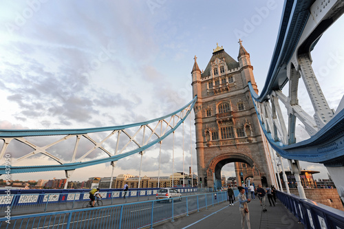 UK, London, Tower Bridge looking towards the South Bank Poster