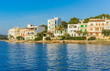 Ansicht Häuser Mittelmeer Küste