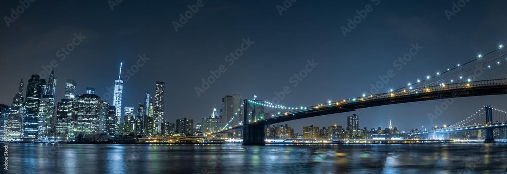 Fototapeta new york cityscape night view from brooklyn