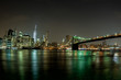 new york cityscape night view from brooklyn