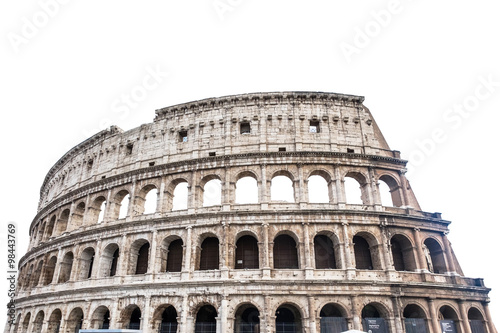 Canvas Print Colosseum in Rome, Italy isolated on white..