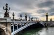 Paris, Le Pont Alexandre III, bords de Seine