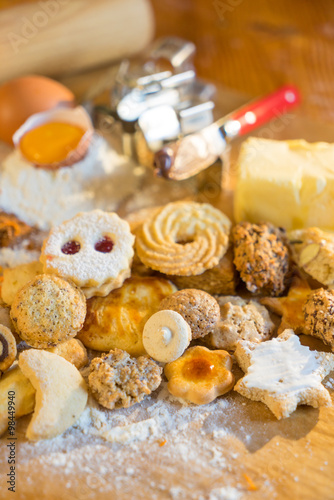 Poster Traditional Christmas cookies from Alsace