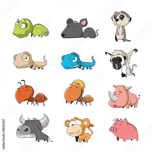 plakat animal set 3