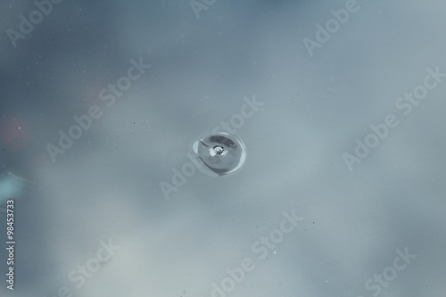 Steinschlag auf der Windschutzscheibe Fototapet