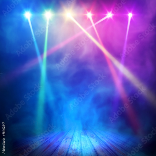 Poster Licht, schaduw Spotlight background