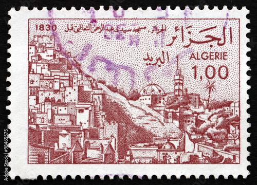 Poster Algerije Postage stamp Algeria 1984 Sidi Abderrahman