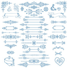 Christmas,New Year Decor Set.Winter Elements,borders