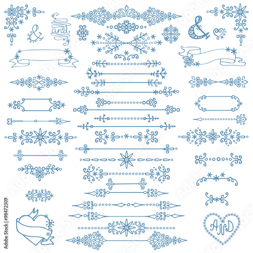 christmasnew year decor setwinter elementsborders