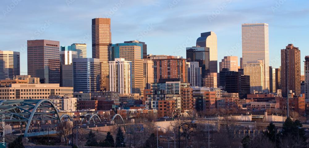 Fototapeta Downtown Denver Buildings