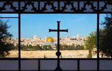 Jerusalem - Outlook From The Window Of Dominus Flevit Church