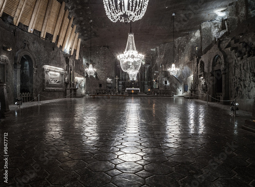 St. Kinga's Chapel 101 meters underground in Wieliczka Salt Mine