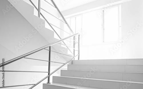 Aluminium Prints Stairs light and stairs