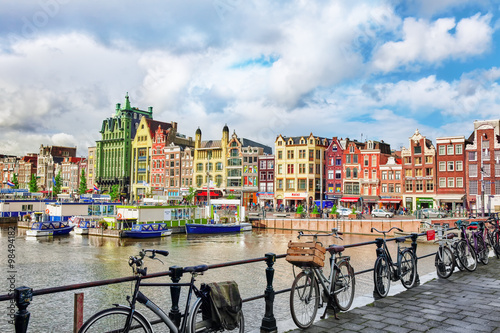 Photo Stands Amsterdam AMSTERDAM, NETHERLANDS - SEPTEMBER 15, 2015: Beautiful views of