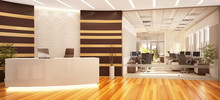 Modern And Large Office With R...