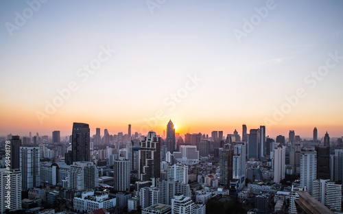Foto auf AluDibond New York this is Cityscape and sunset at evening time