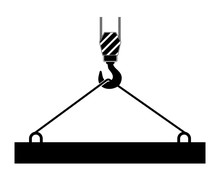 Crane Icon Hook With Construction