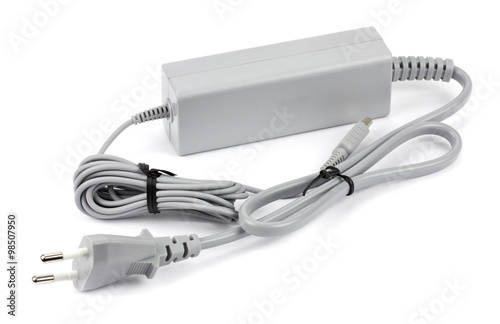 Wii cable on a white background Poster