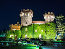 PERALADA, SPAIN - AUGUST 27, 2015 - The Peralada Castle Is Located In Peralada, Catalonia, Spain. It Was Originally Build In IX.
