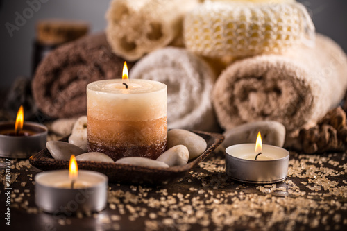 Spa still life Canvas