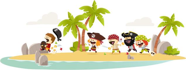 fototapeta wyspa piratów