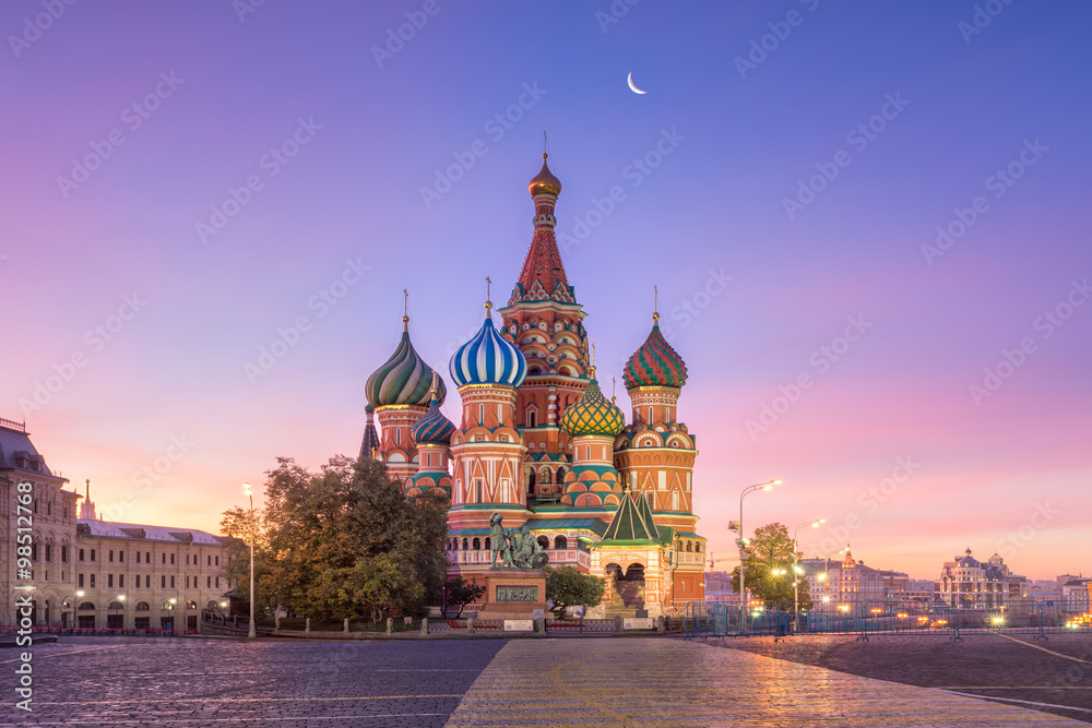 Fototapety, obrazy: Собор Василия Блаженного