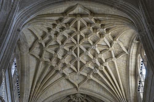 Staande foto Artistiek mon. Christian, Interior of gothic cathedral of Segovia in Spain