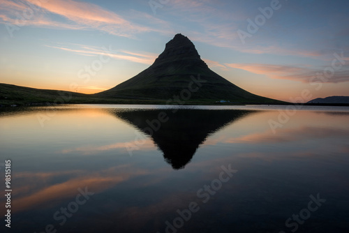 Photo Stands Gray traffic Kirkjufell, Snaefellsnes peninsula