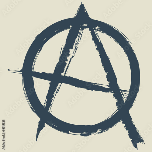 Photo anarchy symbol.