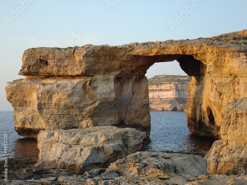 Foto op Aluminium Grijze traf. Azure Window, a limestone natural arch near Dwejra, Gozo, Malta, Europe