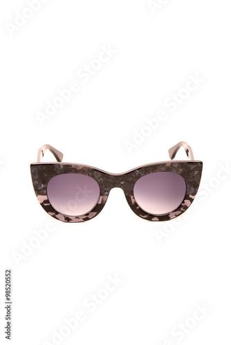 Fotografie, Obraz  retro sunglasses on a white background