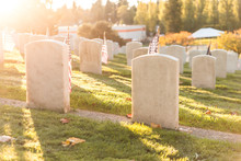American Flag In The Grave Yar...