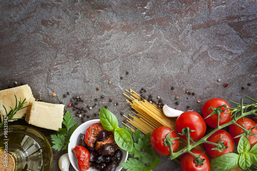 Papiers peints Magasin alimentation Italian Food Background