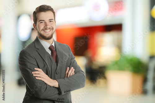 Photo  Young Businessman at the airport
