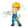 Cartoon illustration of a Handyman