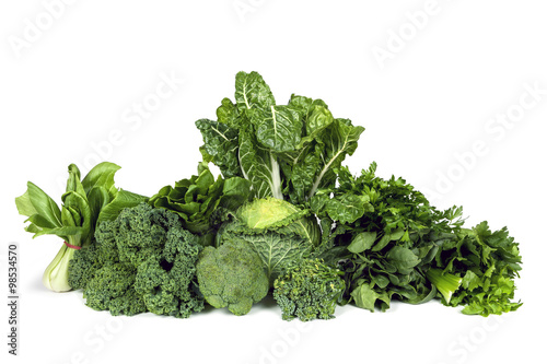 Tuinposter Groenten Leafy Green Vegetables Isolated