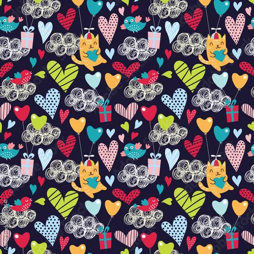 Romantic seamless pattern. Valentine background