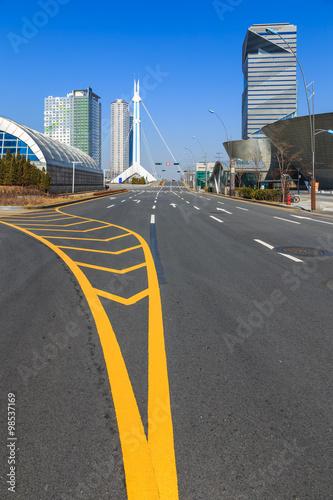 Cityscape, Main Road To Seoul, Korea Poster