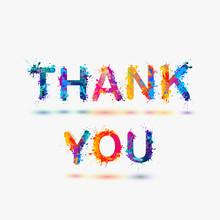 Thank You. Splash Paint