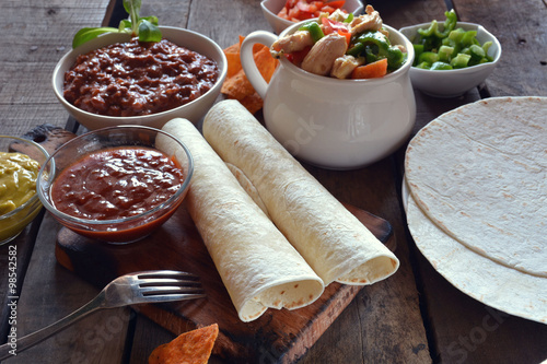 Vászonkép  typical dishes of mexico
