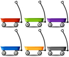 Wagons In Different Colors