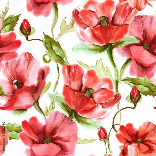Floral Seamless Pattern - 98552790
