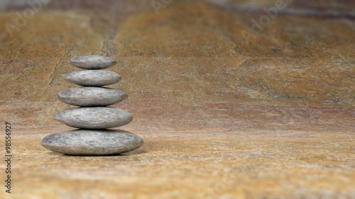Obraz na płótnie Równoważenie kamienie Zen stos od dużych do małych na powierzchni kamienia.