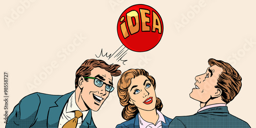 Fotografie, Obraz  Brainstorming business team concept to develop the idea