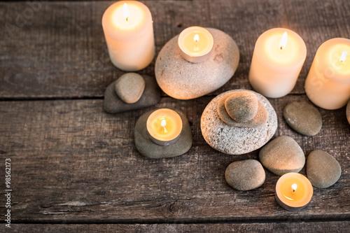 Autocollant pour porte Spa Spa stones