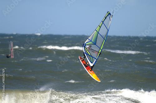 windsurfer in der nordsee
