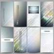 Set of modern flyers. Abstract science or technology vector background