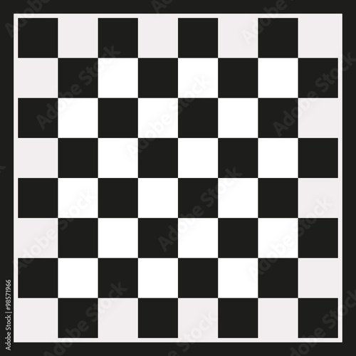 Fototapeta Black checkerboard